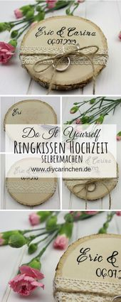 DIY – Just make yourself a rustic ring pillow on a tree disc