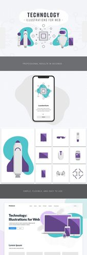Technology: Illustrations for Web