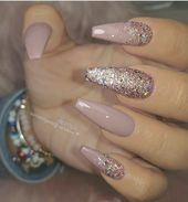 53 Chic Natural Gel Nails Design Ideas For Coffin Nails -, #chic #coffin #Design…