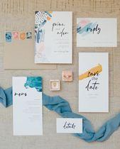 Moderne Hochzeitseinladung | Einfache Hochzeitseinladung