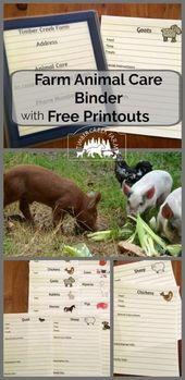 Farm Animal Care Binder für Ihr Gehöft – Farm