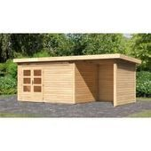Karibu Holzfeeling Gartenhaus Northeim 4 38 mm terra grau Karibukaribu – #gartenh …   – Anbau