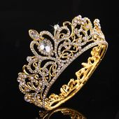 Round Crystal Hair Tiara with Rhinestones  Price: 12.78 & FREE Shipping   #cute – Women Jewelry
