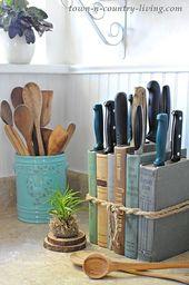 DIY Knife Holder: Flea Market Inspired – Town & Country Living