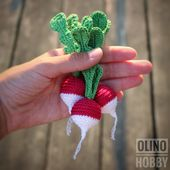RADISH Crochet Sample PDF – Crochet radish sample Amigurumi radish Crochet greens patterns Amigurumi meals patterns Play Meals Radish