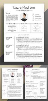 25 modern resume templates with cover letter – Misc