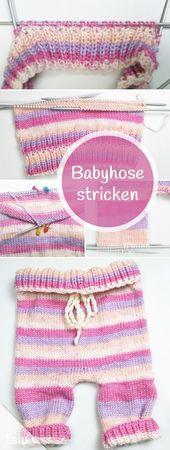 Stricken von Babyhosen – kostenlose Anleitung für Anfänger aller Größen   – bines