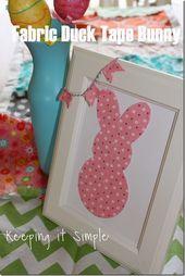 Simple Easter Décor: Cloth Duck Tape Bunny #DuckCraftTape