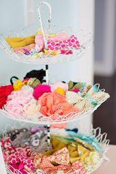 15 süße Mädchen Haarschmuck Aufbewahrungsideen. Einfache DIY-Organisatoren. Plus Etsy b …  – Baby Items-Storage Ideas