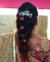 Hair   #bridalhair #hairstylesforwedding #makeupartisthyd #makeuponpoint #makeup..