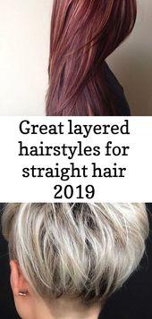 Tolle Lagenfrisuren für glattes Haar 2019