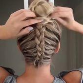 Dutch Braid Messy Bun Updo – Perfect for Short, Medium and Long Hair