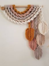 E a r t h ~ Upside down Rainbow Feather Wall Hanging