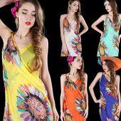 Women's Summer Pareo Dress Sarong Beach Bikini Swimwear Cover Up Printed Boho …