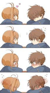 Sakura and Syaoran being really cute together lol …