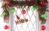 Photo of RAZ Weihnachtsfensterdekoration – Trendy Tree Blog | Holiday Decor Inspiration | Kranz