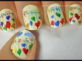 Hearts Nail Artwork Friday I'm in Love nail artwork