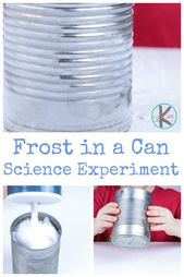 Frost in a Can Science Experiment for kids – this science project is a fun way for toddler, preschoo…