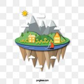 Brown Simple Floating Island Decoration Pattern Island Clipart Brown Simple Png And Vector With Transparent Background For Free Download Floating Island Island Art Floating