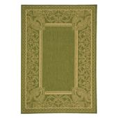 Safavieh Courtyard CY2965 Indoor/Outdoor Area Rug Olive/Natural