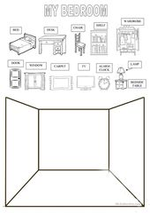 draw your bedroom – English ESL Worksheets
