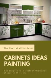 The Neutral White Color | Best Kitchen Cabinets Ideas Painting