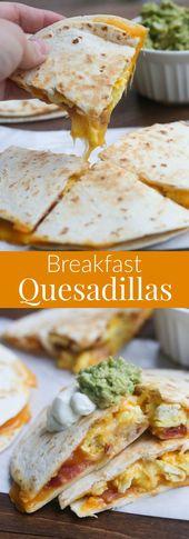 Breakfast Quesadillas These fluffy cinnamon roll p…