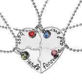 4pcs Greatest Buddy Ceaselessly Friendship Necklace Set Puzzle Piece Rhinestone Jewellery  | eBay