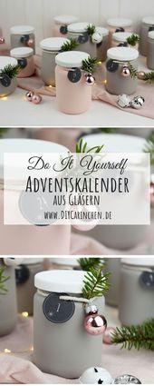 DIY – Upcycling Adventskalender aus alten Gläsern einfach selber machen – Alle DIYs von DIYCarinchen