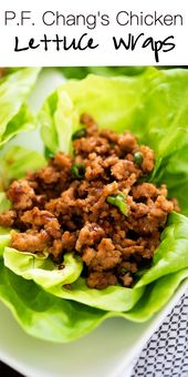 Savory And Delicious Chicken Lettuce Wraps This Recipe Is A Copycat Version Of The Lettuce W Lettuce Wrap Recipes Ground Chicken Recipes Lettuce Wraps Healthy