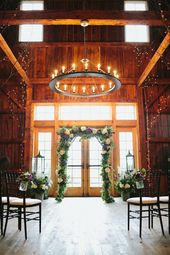 Wedding Ceremony Indoor Setup Barn At Lang Farm Vt Photography