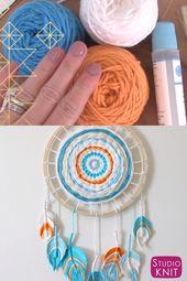 Fiber Feather Dreamcatcher DIY Craft