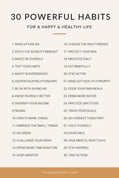 30 powerful habits for a happy, healthy life