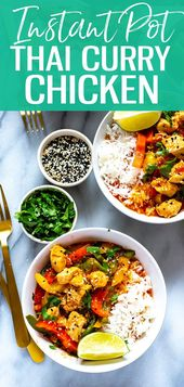 This Instant Pot Thai Chicken Curry is a 30-minute meal idea made easy thanks to…