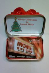 altoid tin turned gift card holder – Movie Tickets…