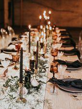Intime moderne romantische Hochzeitsfeier: Der Empfang
