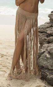 Housse de maillot de bain à franges, Ceinture à franges, Jupe de plage, Cache-maillot de bain, Longue frange …   – Hakeln