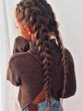▷ 1001 + Tutorials und Ideen, wie man selbst ein Geflecht macht-   geklebtes G… – Haar