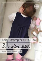 Den süßen Strampler selber nähen   – Babykleidung nähen mit Schnittmuster