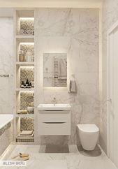 Badezimmer mit Marmorfliesen in hellen Farben, Badezimmer mit Marmorfliesen in hellen Farben. – #badezimmer #farben #hellen #marmorfliesen #mit