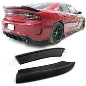 Rear Bumper Lip Aprons Compatible With 2015 2019 Dodge Charger