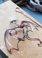 Dragon Copper Hairpin – Wire Wrapped Hair Accesso – Women's Jewelry and Accessories