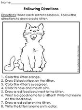 ollowing Instructions: Kittens (language arts) That is the FREE obtain that's f…