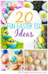 20 FUN Easter Egg Adorning Concepts – My Frugal Adventures