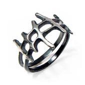 Anillo de plata negro para hombre SAMURAI, anillo negro para hombre, banda alternativa, anillo único para hombre, anillo de plata oxidado   – Unique Silver Rings