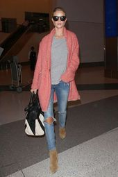 Rosie Huntington Street Style y más detalles   – Fashionista