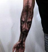 40 Maskulin Wolf Tattoo Designs für Männer  #Design #Designs #für #Kunst #Mä…