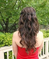 Ever Beautiful Waterfall Braided Long Hairstyles #…