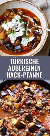 Türkische Auberginen-Hackfleisch-Pfanne