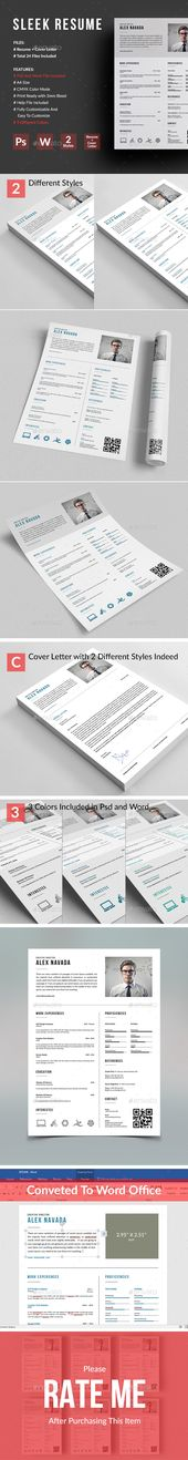 Resume AI, EPS, PSD, MS Word - A4 and US letter size Resume - resume indeed